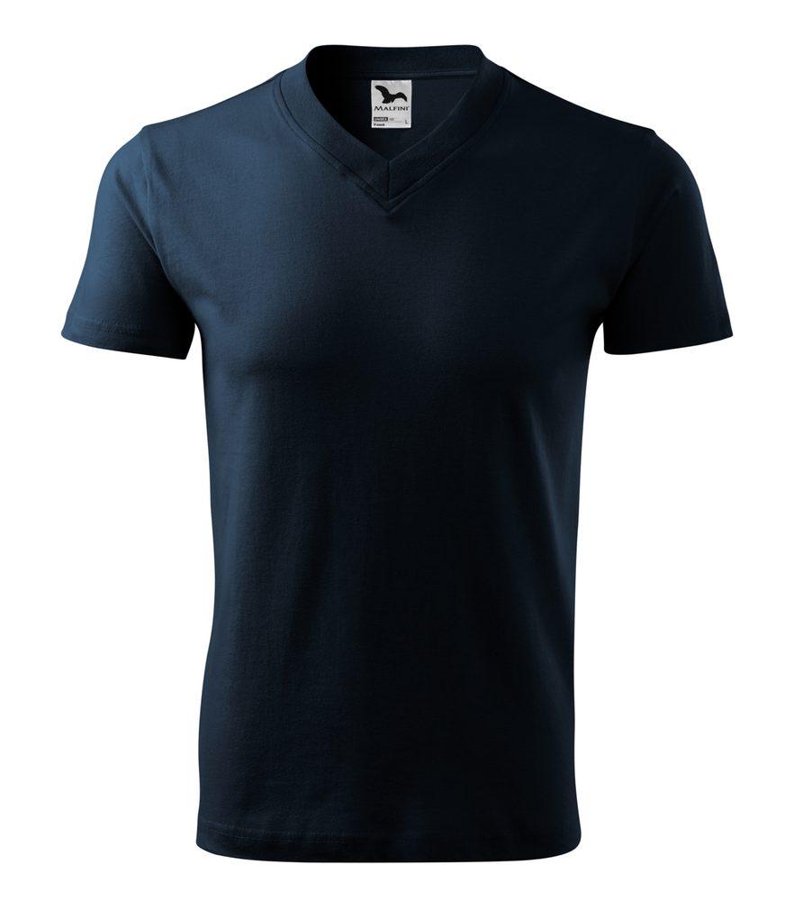Adler Tričko V-neck - Námořní modrá | S