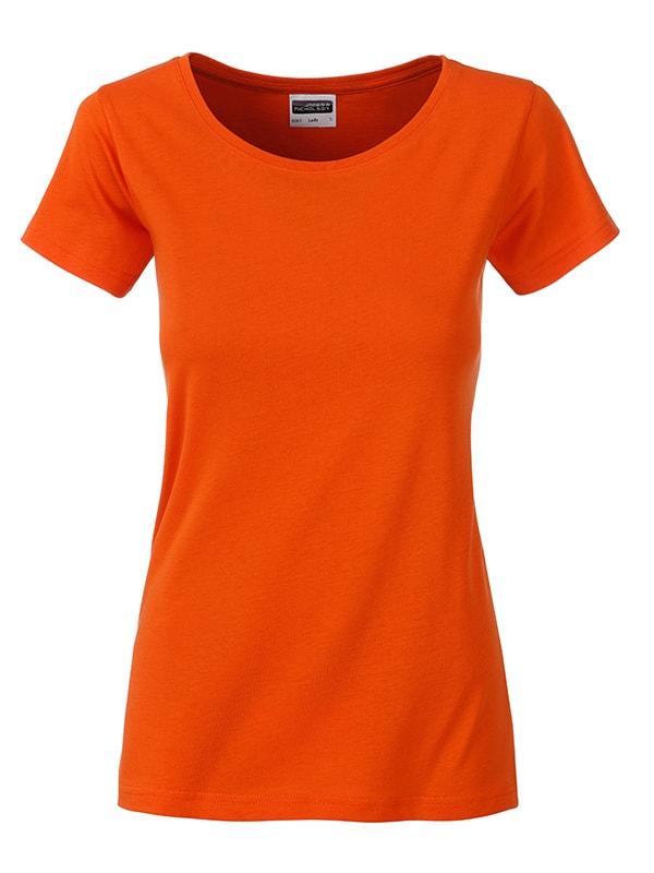James & Nicholson Klasické dámske tričko z biobavlny 8007 - Korálová | XL