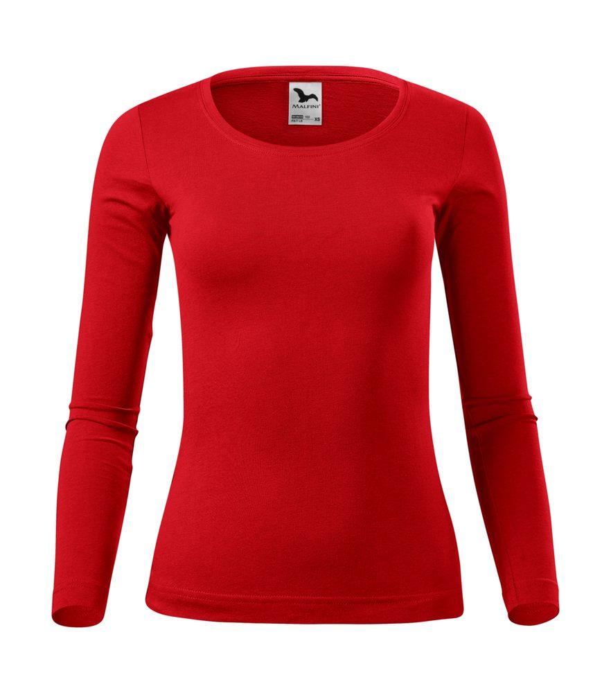 Adler (MALFINI) Dámske tričko s dlhým rukávom Fit-T Long Sleeve - Červená | L