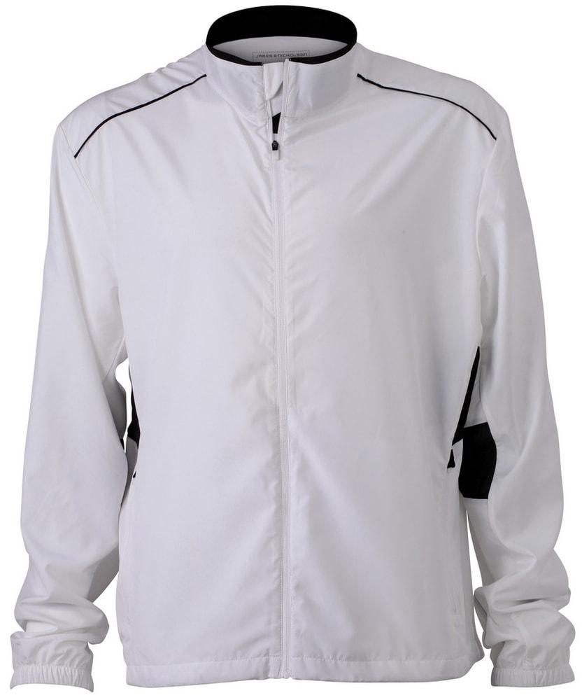 Pánská běžecká bunda JN476 - Bílá / černá | S