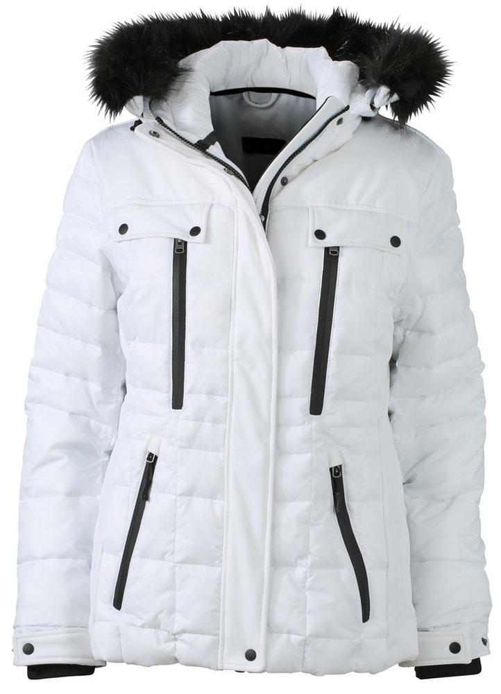 James & Nicholson Športová dámska zimná bunda JN1101 - Bílá / černá | M
