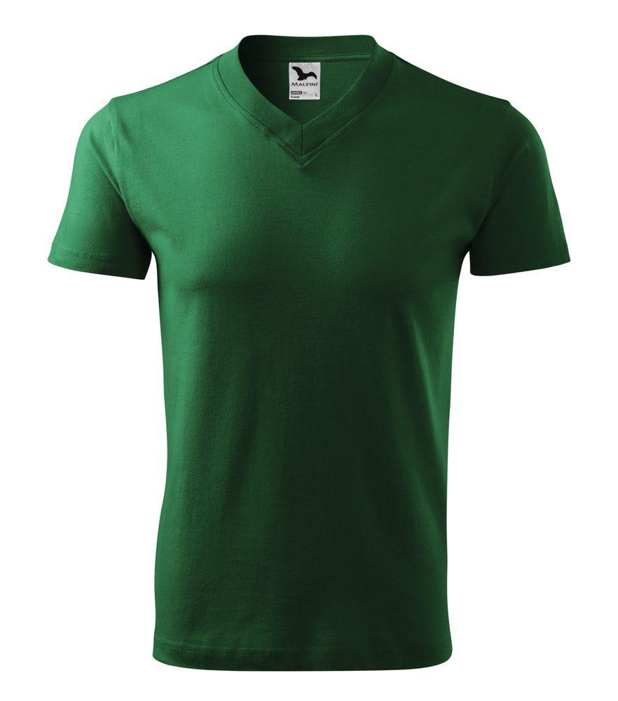 Adler Tričko V-neck - Lahvově zelená | S