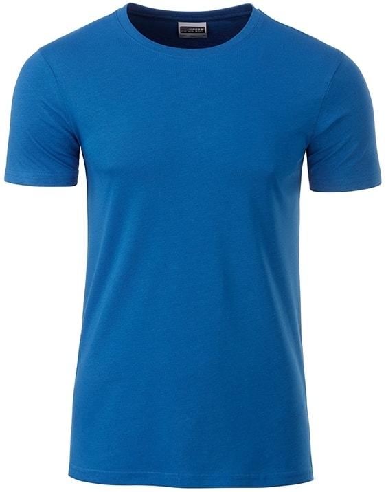 James & Nicholson Klasické pánske tričko z biobavlny 8008 - Královská modrá | XXL