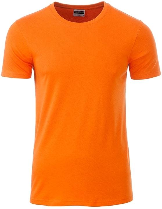 James & Nicholson Klasické pánske tričko z biobavlny 8008 - Oranžová | XXL