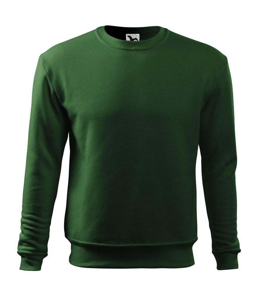 Adler Pánska/detská mikina Essential - Lahvově zelená | XL