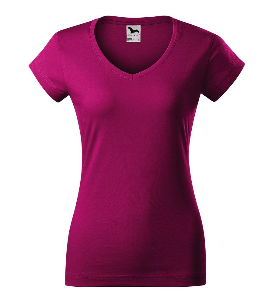 Adler Dámske tričko Fit V-neck - Světle fuchsiová | XL
