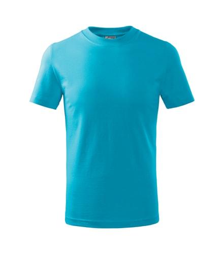 Adler Detské tričko Basic - Tyrkysová | 134 cm (8 let)