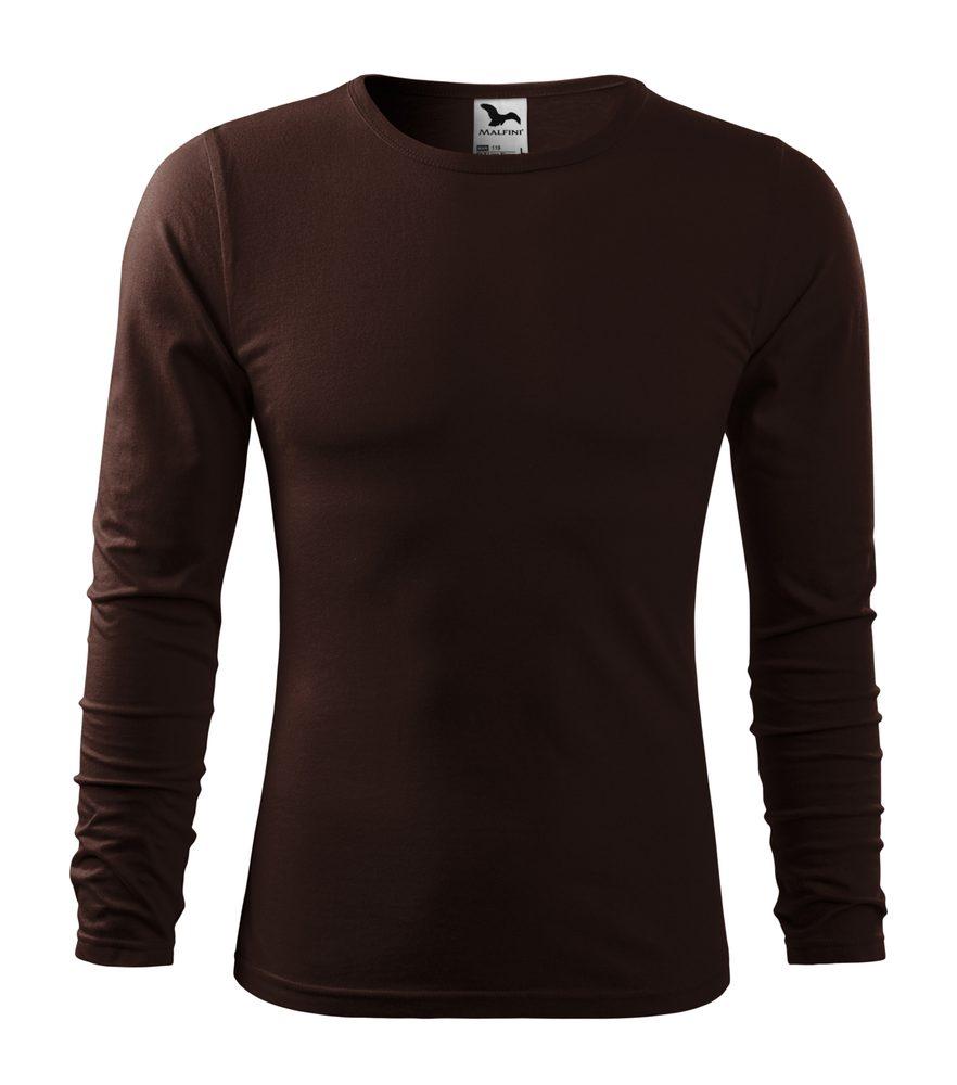 Adler Pánske tričko s dlhým rukávom Fit-T Long Sleeve - Kávová | L