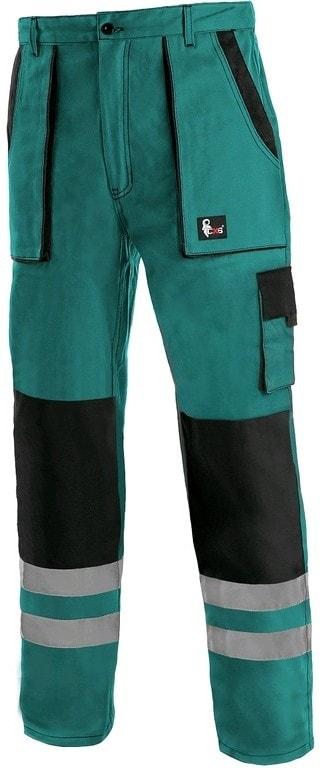 Canis Montérkové nohavice do pása CXS LUXY BRIGHT - Zelená / černá   48