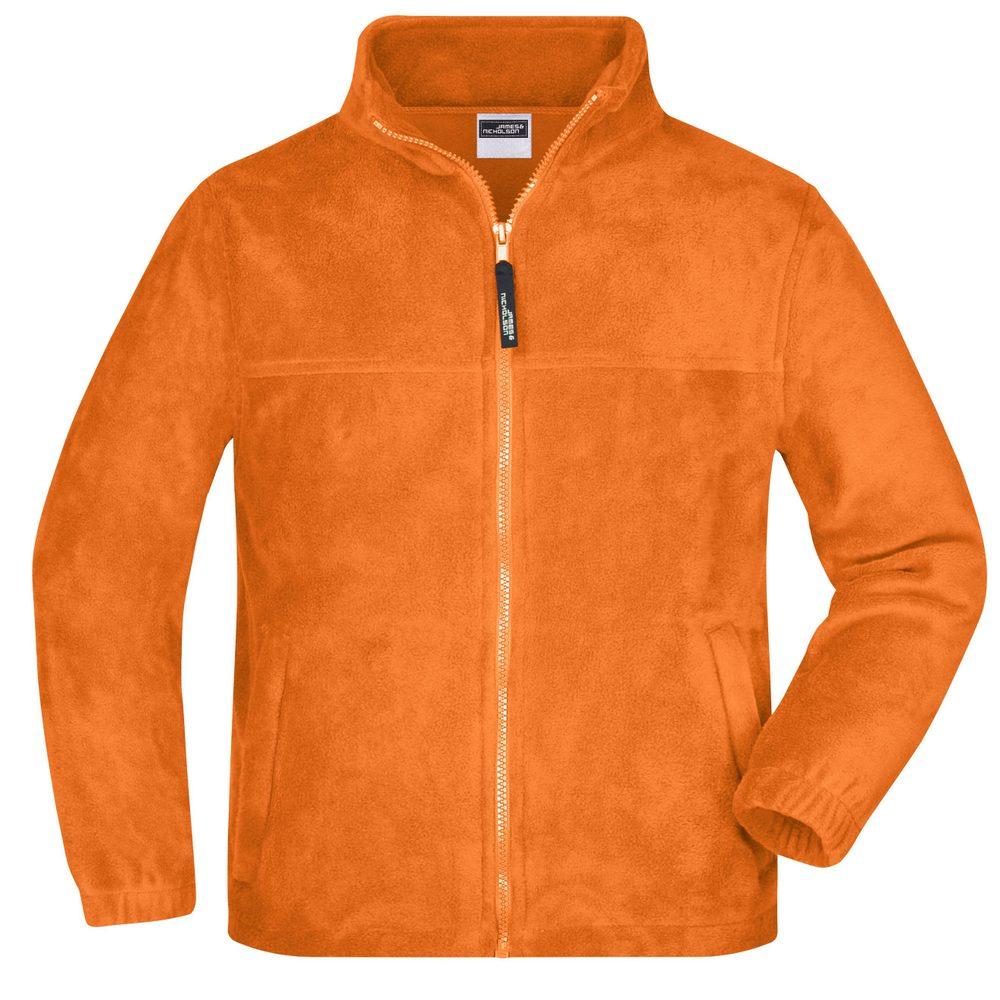 James & Nicholson Detská fleece mikina JN044k - Oranžová | L