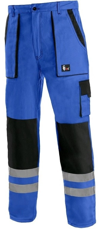 Canis Montérkové nohavice do pása CXS LUXY BRIGHT - Modrá / černá   48