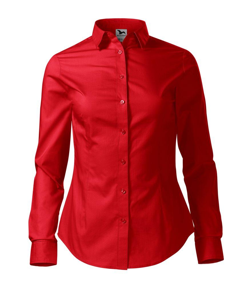 Adler Dámska košeľa s dlhým rukávom Style - Červená | M