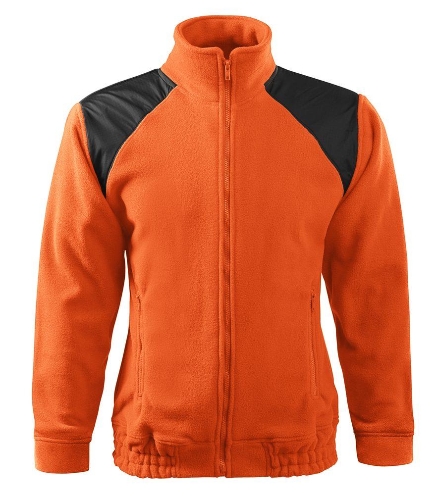 Adler (MALFINI) Fleecová mikina Jacket Hi-Q - Oranžová | XXL