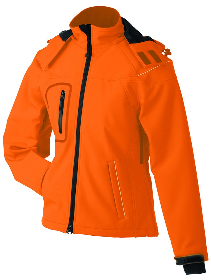 James & Nicholson Zimná dámska softshellová bunda JN1001 - Oranžová | L