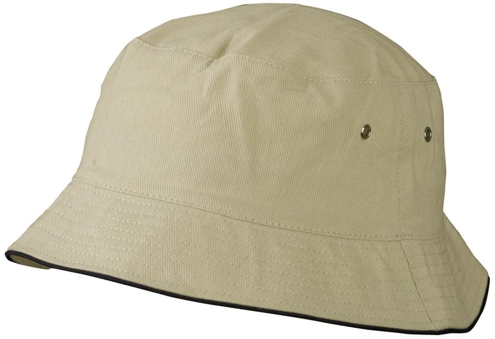 Dětský klobouček MB013 - Khaki / černá | 54 cm