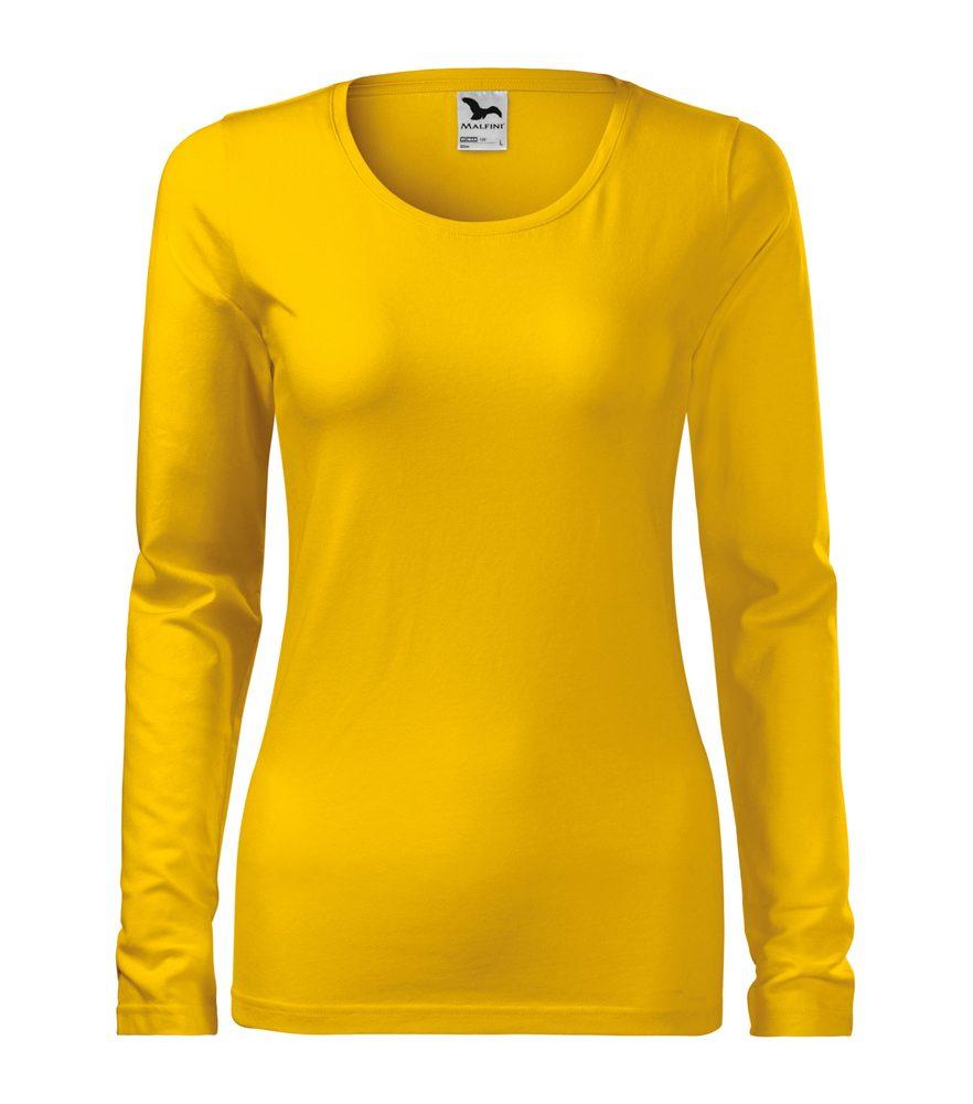 Adler (MALFINI) Dámske tričko s dlhým rukávom Slim - Žlutá | L