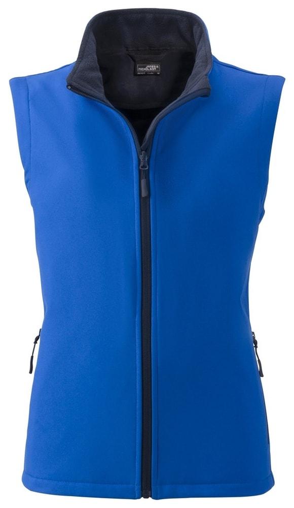 James & Nicholson Dámska softshellová vesta JN1127 - Světle modrá / tmavě modrá | M