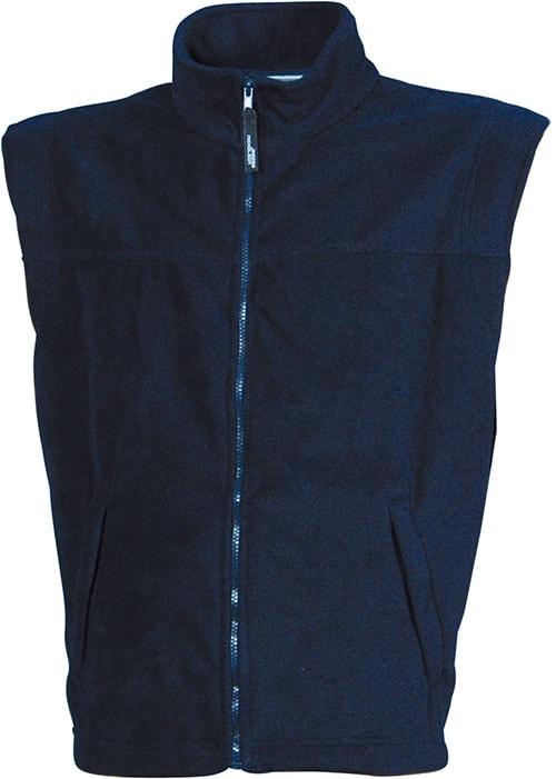 James & Nicholson Pánska fleecová vesta JN045 - Tmavě modrá | S