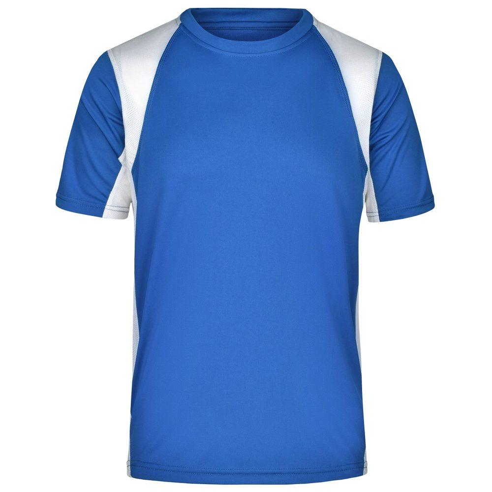 James & Nicholson Pánske športové tričko s krátkym rukávom JN306 - Královská modrá / bílá | XL