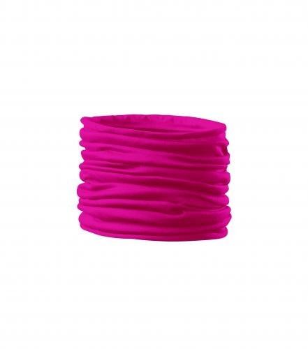 Adler Multifunkční šátek Twister - Neonově růžová | uni
