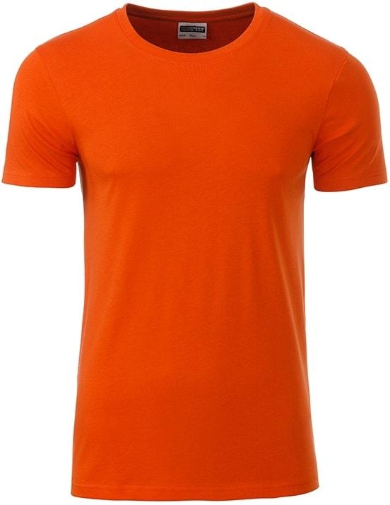 James & Nicholson Klasické pánske tričko z biobavlny 8008 - Tmavě oranžová | XXL