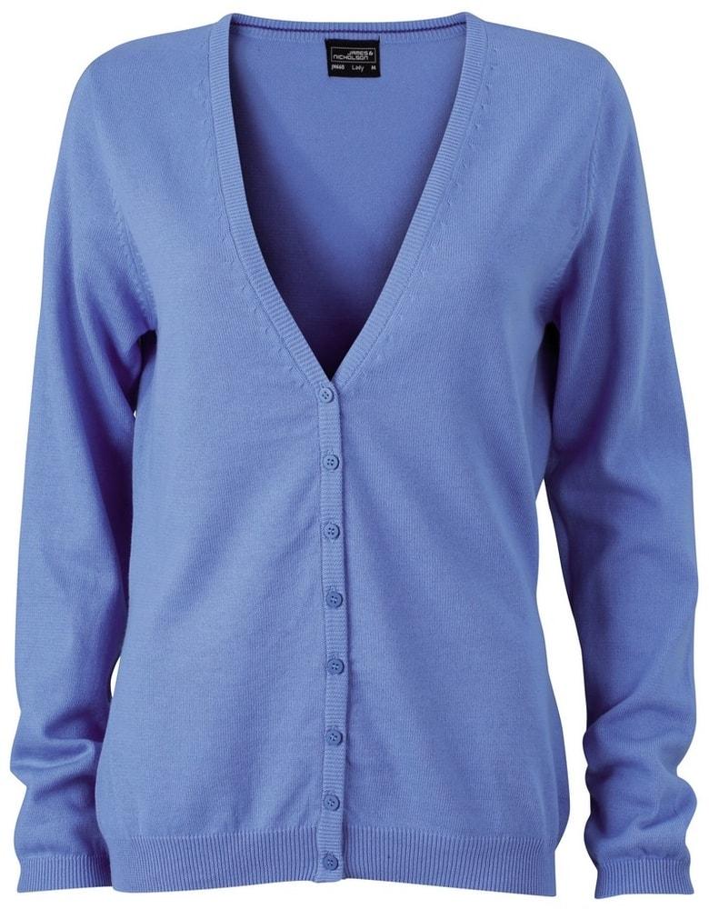 Dámský bavlněný svetr JN660 - Ledově modrá | L