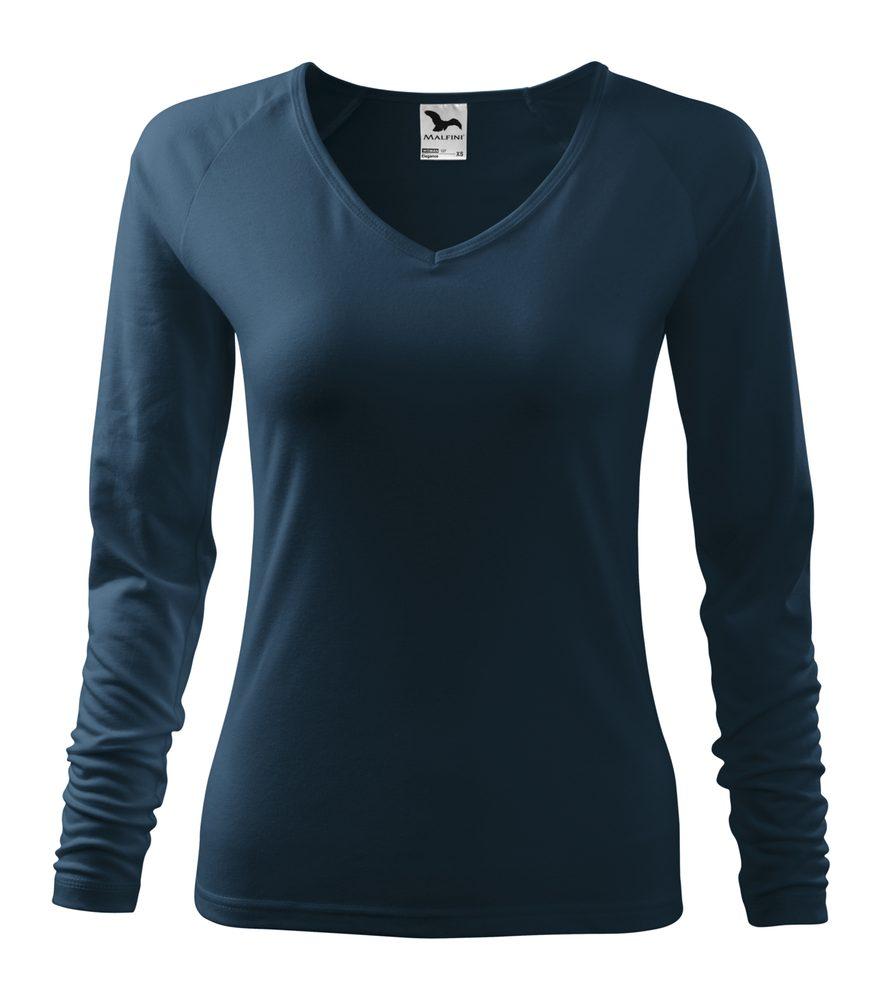 Adler (MALFINI) Dámské tričko s dlouhým rukávem Elegance - Námořní modrá | XXL