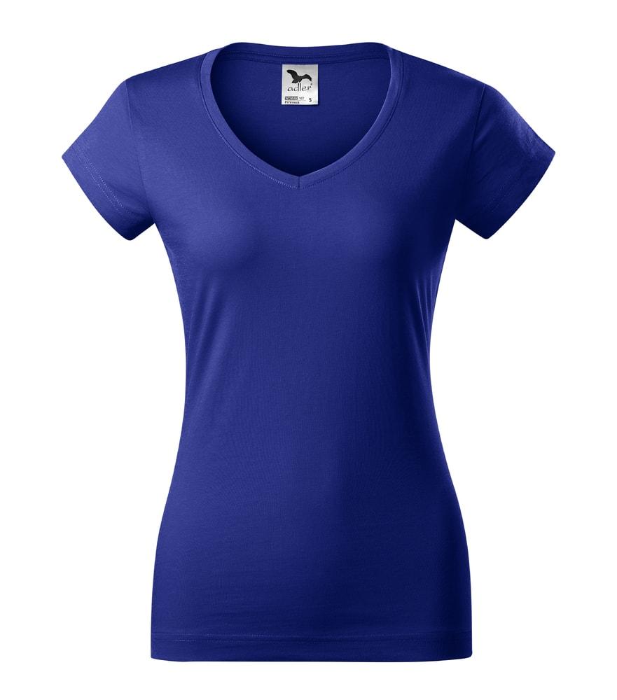 Dámské tričko Fit V-neck - Královská modrá | XS