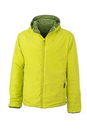Lehká pánská oboustranná bunda JN1092 - Zelená / žlutozelená | M