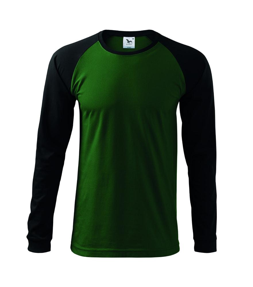 Adler Pánske tričko s dlhým rukávom Street LS - Lahvově zelená | L