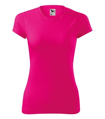 Adler Dámske tričko Fantasy - Neonově růžová | S