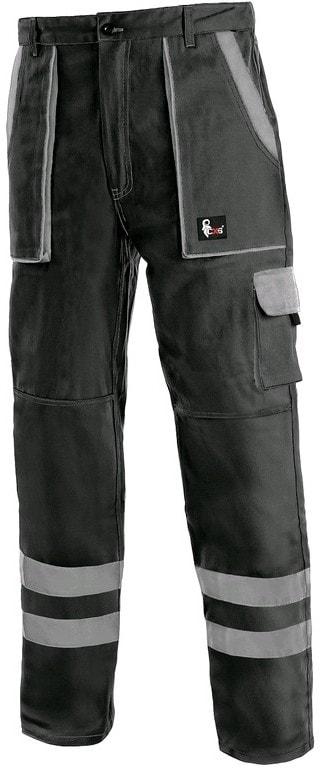 Canis Montérkové nohavice do pása CXS LUXY BRIGHT - Černá / šedá | 62