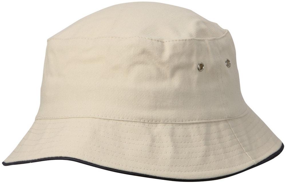 Dětský klobouček MB013 - Přírodní / tmavě modrá | 54 cm