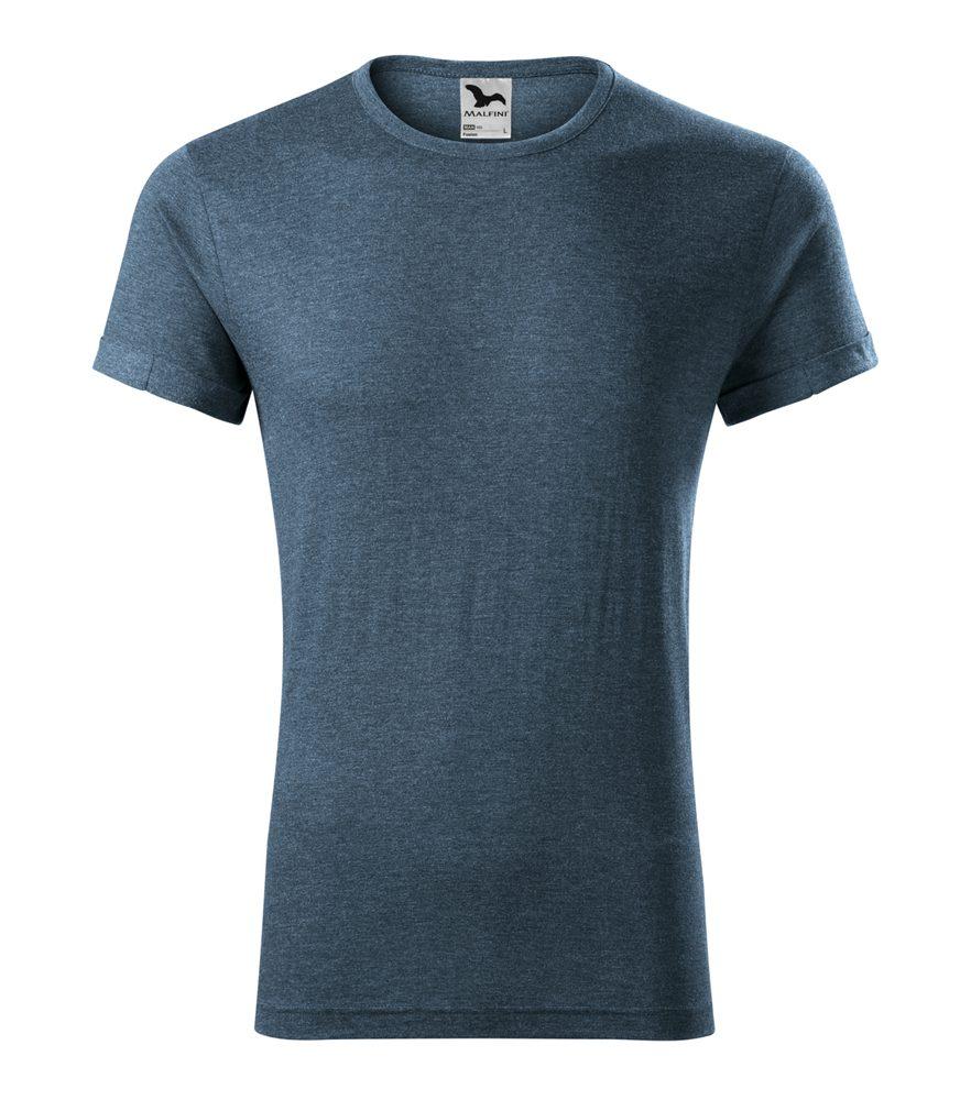Adler (MALFINI) Pánske tričko Fusion - Tmavý denim melír   XXL
