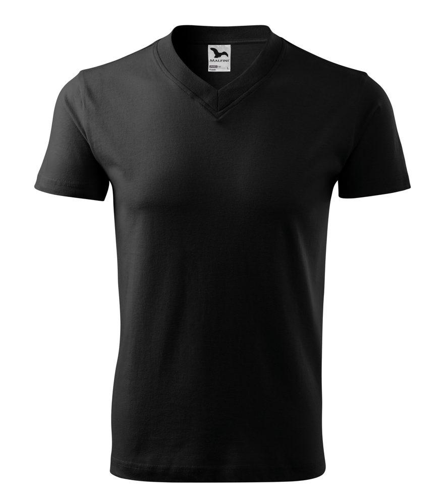 Adler Tričko V-neck - Černá | S
