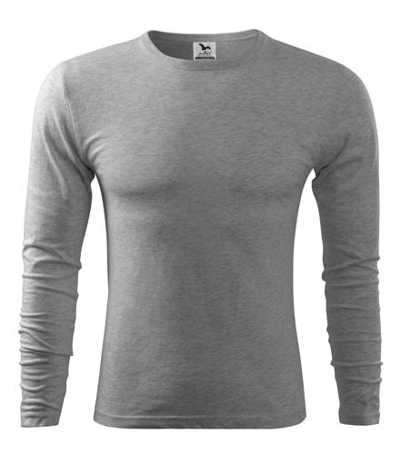 Pánské tričko s dlouhým rukávem Fit-T Long Sleeve - Tmavě šedý melír | S