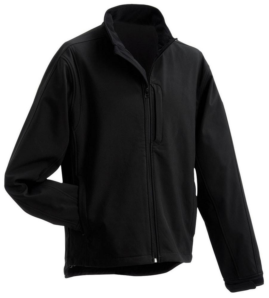 James & Nicholson Pánska softshellová bunda JN135 - Černá | XXXXL