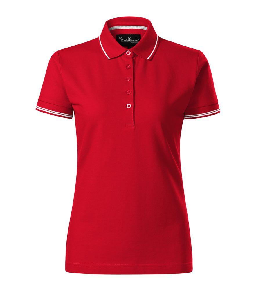 Adler (MALFINI) Pique dámská polokošile Perfection plain - Jasně červená   L