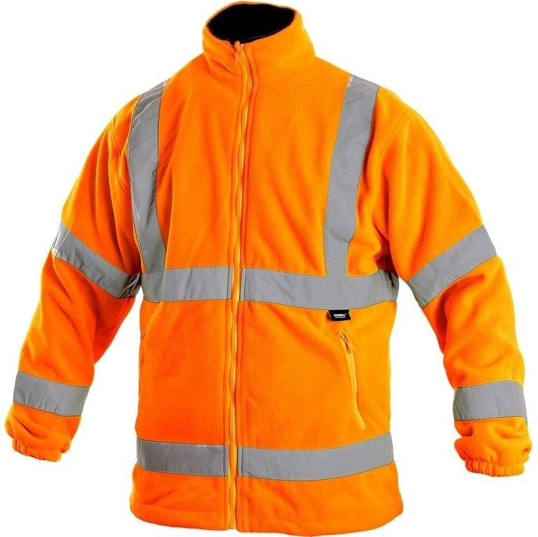 Pánská výstražná bunda PRESTON - Oranžová | XXXL