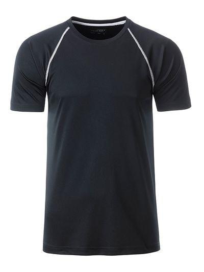 James & Nicholson Pánske funkčné tričko JN496 - Černá / bílá | XL