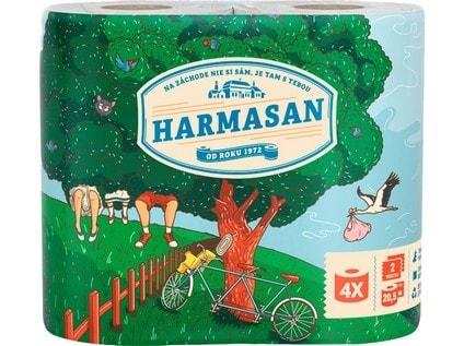 Dvouvrstvý toaletní papír HARMONY COLOR - 4 ks