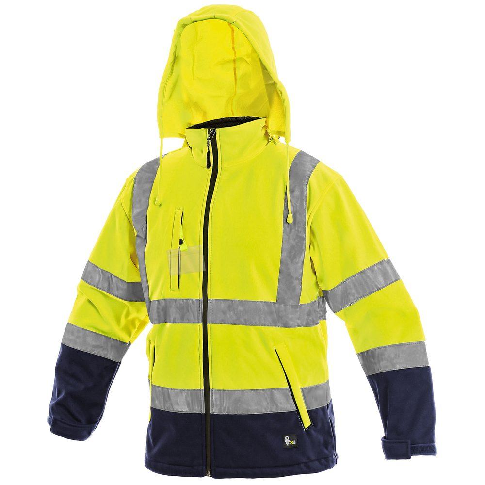 Canis Reflexná softshellová bunda DERBY - Žlutá | XL