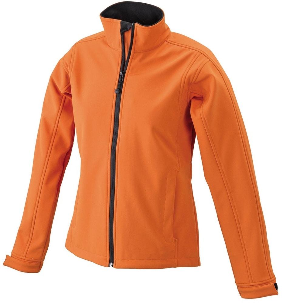James & Nicholson Dámska softshellová bunda JN137 - Oranžová | M