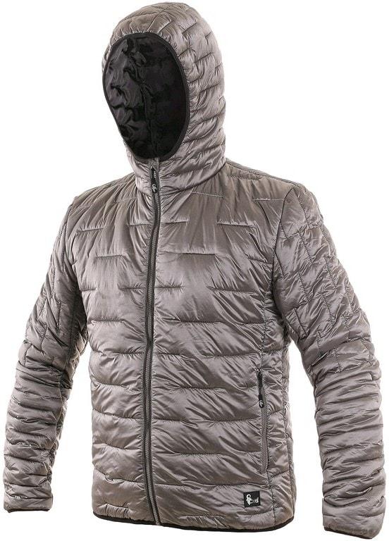 Pánská zimní prošívaná bunda LOUISIANA - Ledově šedá | XXXL
