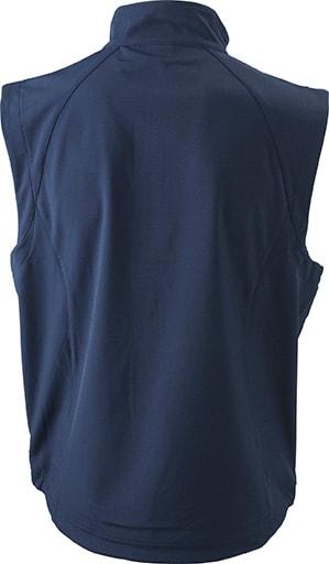 James & Nicholson Pánska softshellová vesta JN1022 - Tmavě modrá | S