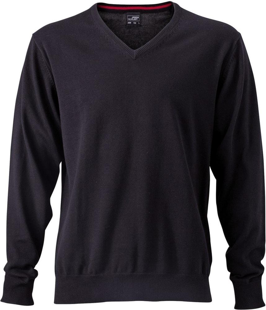 James & Nicholson Pánský bavlněný svetr JN659 - Černá   L