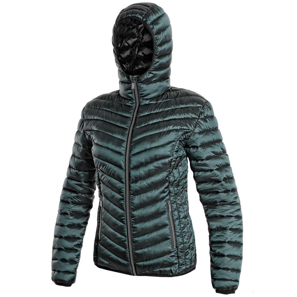 Canis Dámská zimní prošívaná bunda OCEANSIDE - Tmavě zelená   XXXL