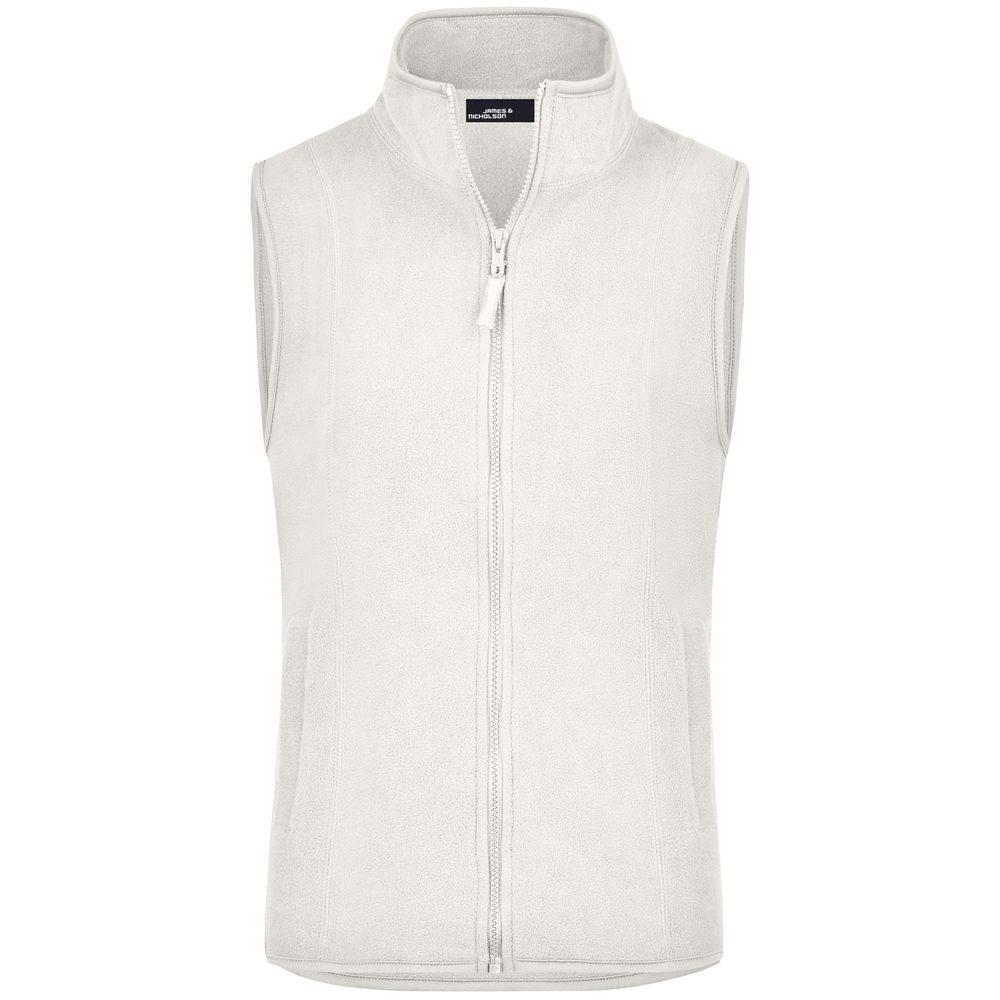 James & Nicholson Dámska fleecová vesta JN048 - Šedo-bílá | XL