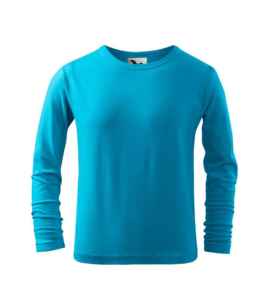 Adler (MALFINI) Detské tričko s dlhým rukávom Long Sleeve - Tyrkysová | 110 cm (4 roky)