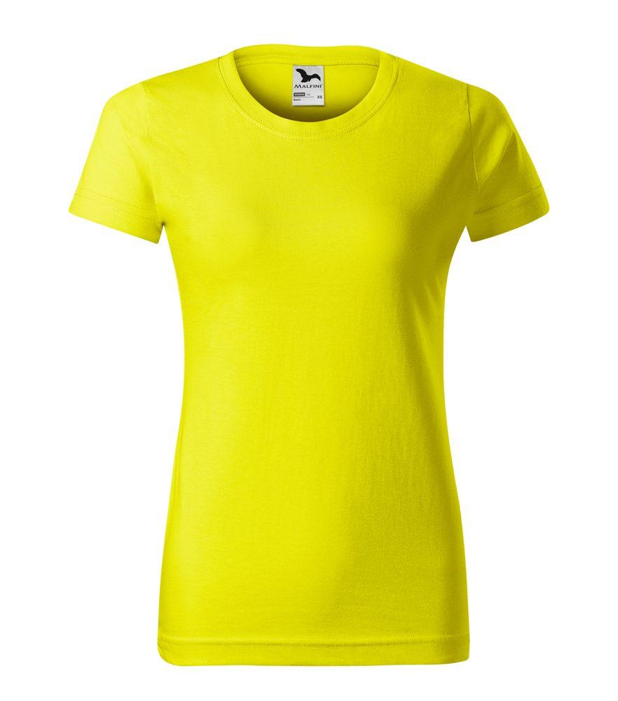 Adler Dámske tričko Basic - Citrónová | L